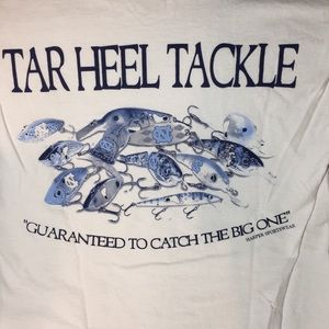 Other - UNC Tarheel Tackle white/blue graphic T-shirt Sz S